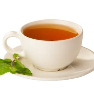 delicious-hot-green-tea-on-white-picture
