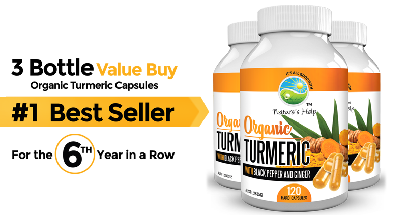 3 bottle organic turmeric