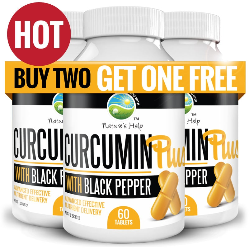Curcumin Plus - Buy 2 get one Free - auto shipping